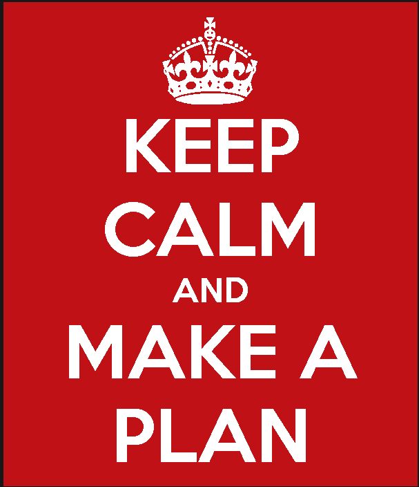 wedding timeline keep calm and make a plan