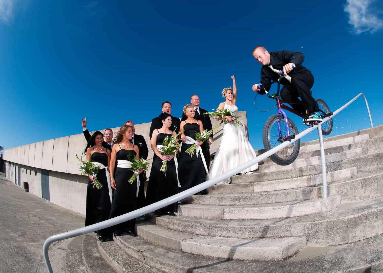 Christchurch wedding groom bmx rail bicycle bridal party extreme wedding photos 20100220-BRAD&JO-DSC_0039colourP_1920