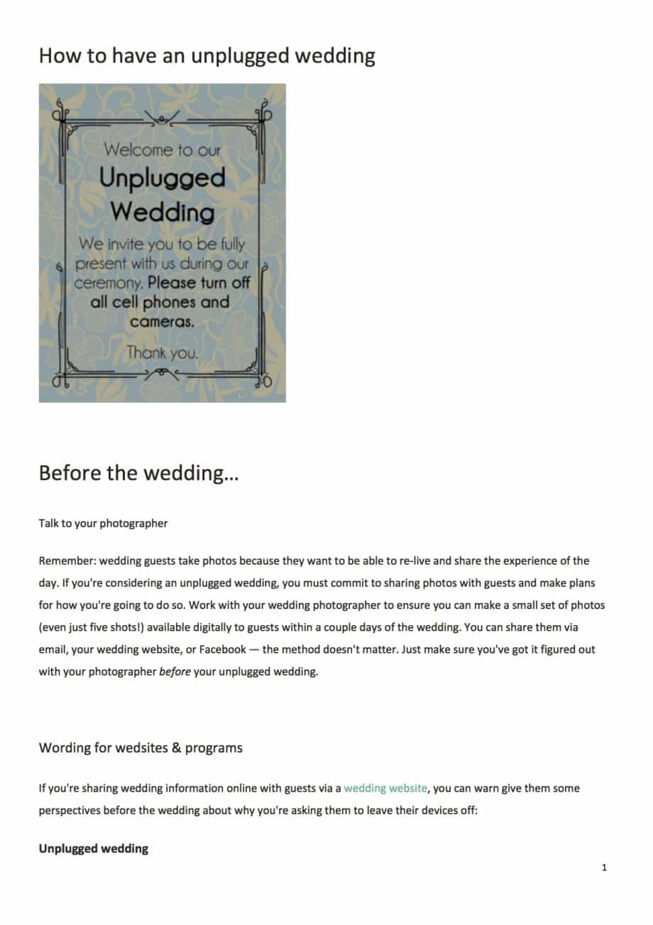 How_to_have_an_unplugged_wedding